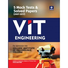 5 Mock Tests & Solved Papers (2007-2017) for VIT Engineering